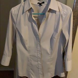 Womens Express Stretch sz 6 Button Blouse